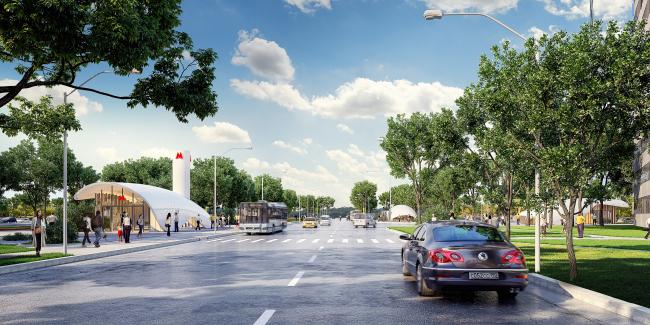 Концепция оформления станции «Кленовый бульвар» © Pride + Ariasranea (Россия – Аргентина)