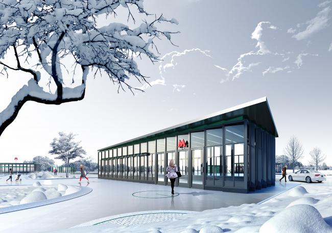 Концепция оформления станции «Кленовый бульвар» © HAAST + Sporaarchitects (Россия – Венгрия)