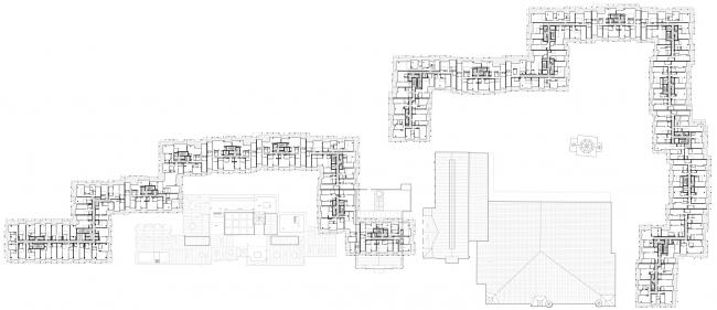 Проект застройки территории Бадаевского пивоваренного завода. План типового этажа