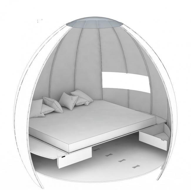 Капсульный деревянный дом Escape Pod © Podmakers Ltd