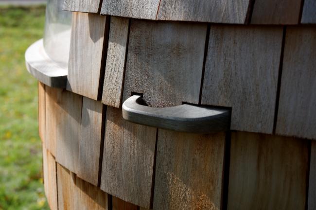 Капсульный деревянный дом Escape Pod © Tim Brotherton
