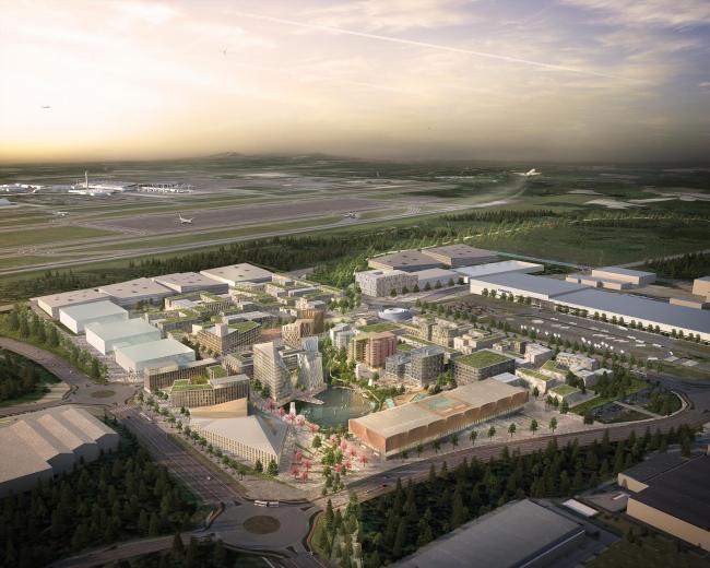 Аэротрополис Oslo Airport City © Haptic Architects / Nordic – Office of Architecture