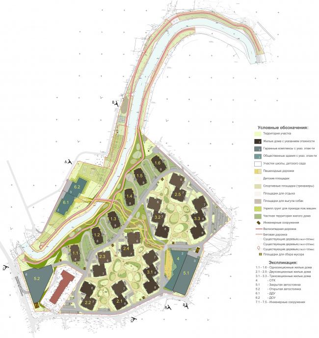 """Rafinad"" settlement, project. Masterplan © PANACOM"