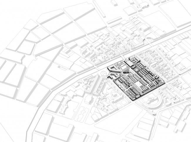 """Renovation and reorganization to fit modern functions of the regional cultural heritage site """"Apraksin Dvor with the Mariinsky Market"""" © Studio 44"""