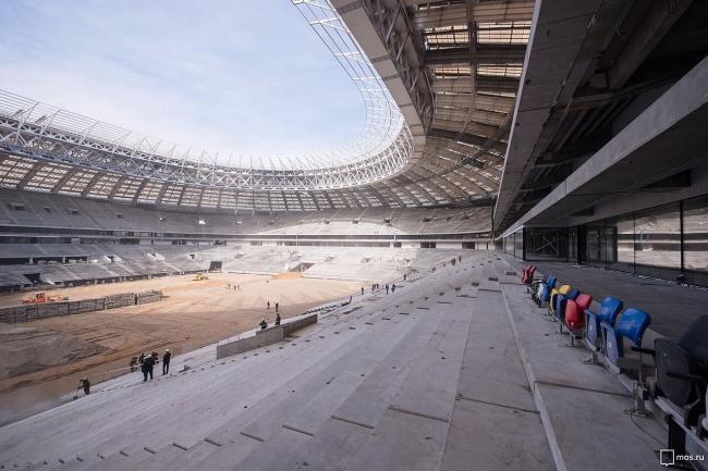 Реконструкция стадиона «Лужники». Фото: Mos.ru via Wikimedia Commons. Лицензия CC BY 4.0