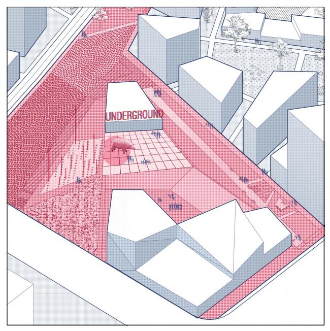 Концепция реновации квартала 20-21 в Черемушках. Авторы: Ульяна Жомнир и Екатерина Пирожкова. Изображение предоставлено СМА