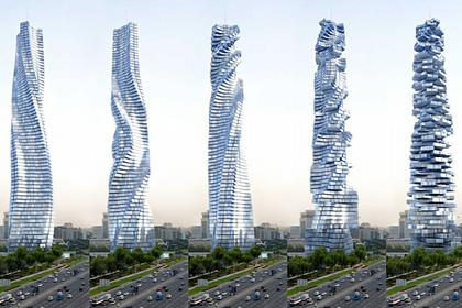 Вращающийся небоскреб Dynamic Tower. Вариант для Москвы
