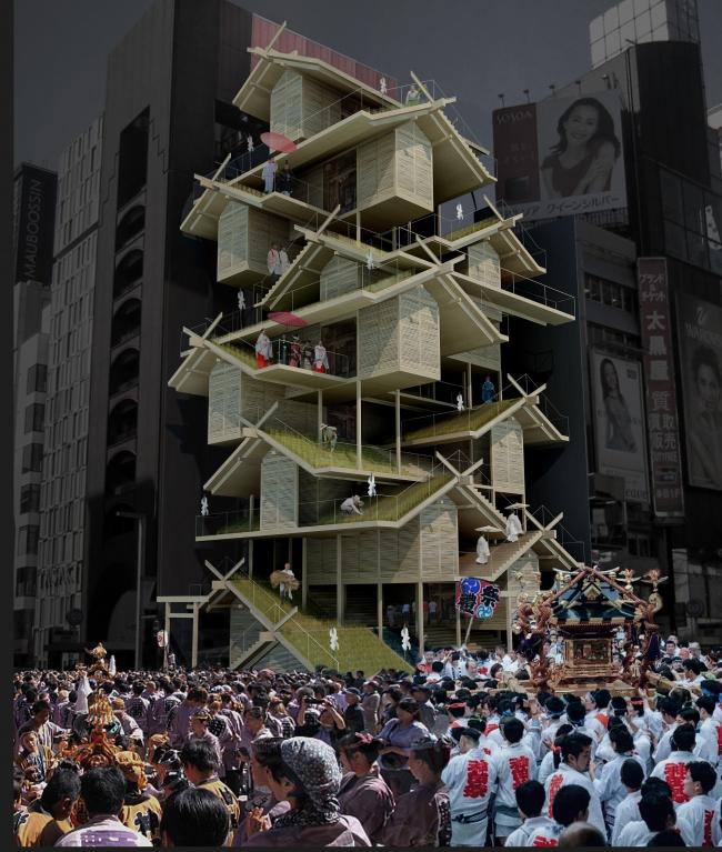 Проект «Святилище синто» (Shinto Shrine). Автор:  Тони Люн, Гонконг