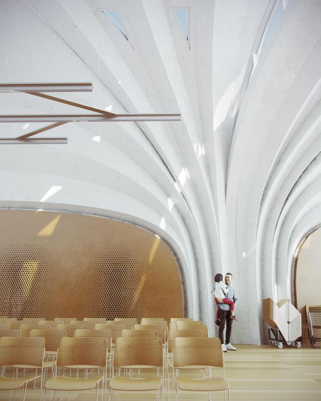Начальная школа Лушань. Изображение предоставлено Zaha Hadid Architects