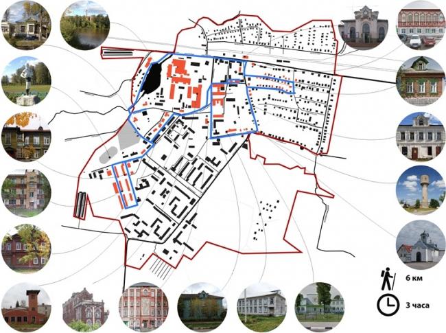 Концепция развития туристического бренда Дрезны. Длинный маршрут © Архитектурное бюро Мегабудка