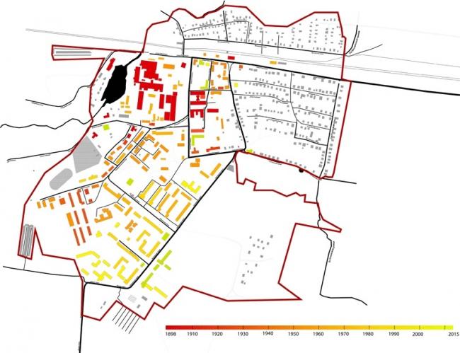 Концепция развития туристического бренда Дрезны. Периодизация застройки © Архитектурное бюро Мегабудка