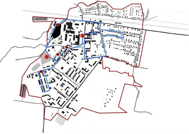 Концепция развития туристического бренда Дрезны. Предложения по обустройству общественных мест на пути движения туристов © Архитектурное бюро Мегабудка