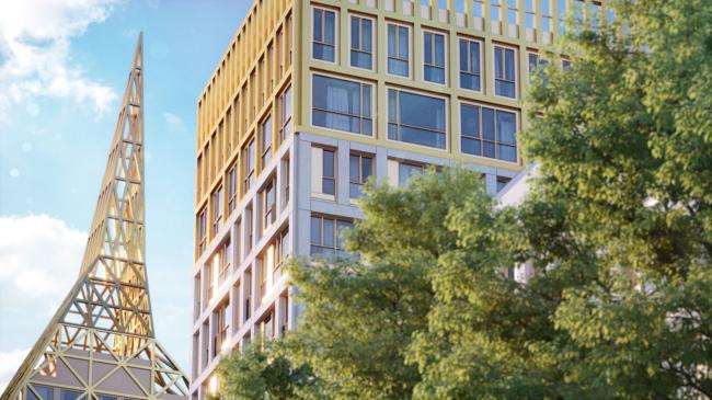 """Golden City"" residential complex © KCAP + ORANGE + A.Len"