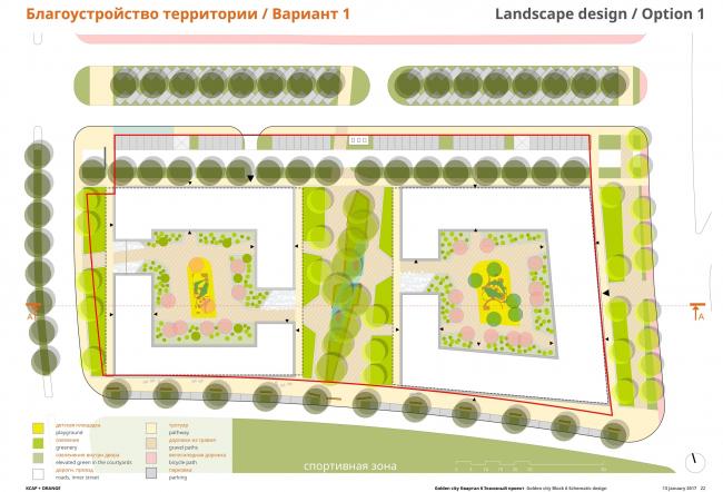 """Golden City"" residential complex. Block #6. Masterplan, draft © KCAP + ORANGE + A.Len"