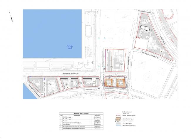 """Golden City"" residential complex. Block #6. Location plan © KCAP + ORANGE + A.Len"