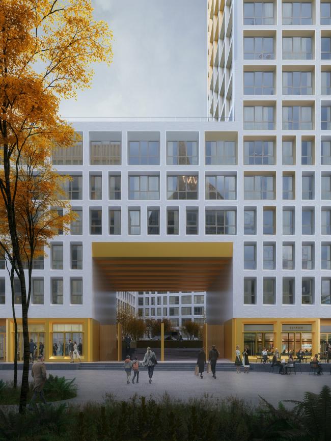 """Golden City"" residential complex. Block #7 © KCAP + ORANGE + A.Len"