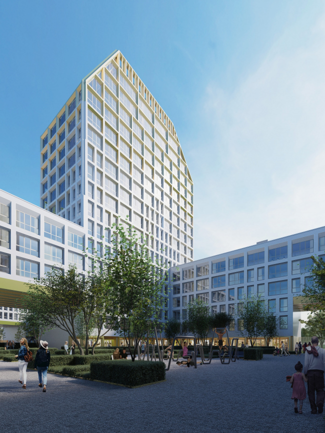 ЖК Golden City. 7 квартал © KCAP + ORANGE + Архитектурное бюро «А.Лен»