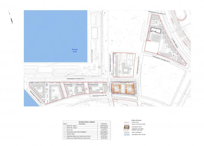 """Golden City"" residential complex. Block #7. Location plan © KCAP + ORANGE + A.Len"