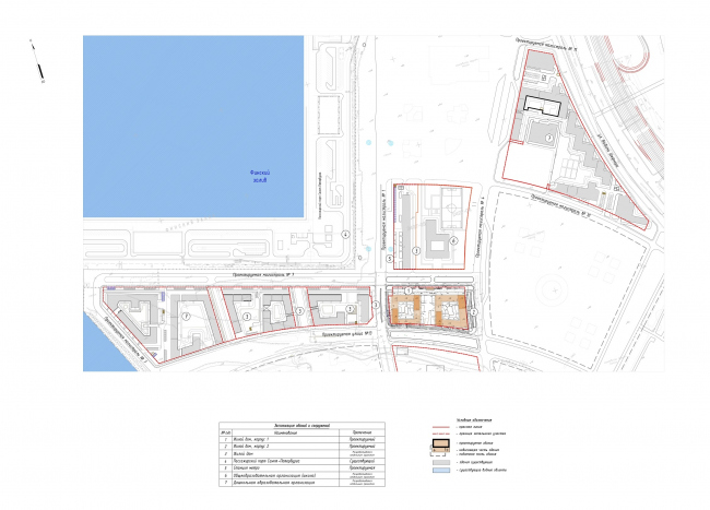 """Golden City"" residential complex. Block #7. Location plan © KCAP + ORANGE + A.Len"