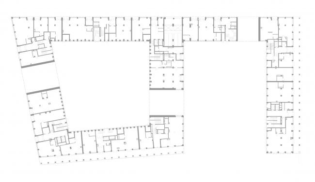 ЖК Golden City. 7 квартал. План 1 этажа © KCAP + ORANGE + Архитектурное бюро «А.Лен»