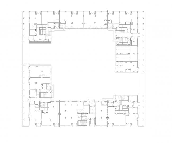 """Golden City"" residential complex. Block #6. Building 1, the 1st floor © KCAP + ORANGE + A.Len"