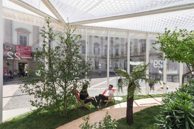 Павильон «Живая природа» на площади Пьяцца-дель-Дуомо в Милане. Изображение © Delfino Sisto Legnani and Marco Cappelletti