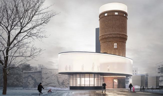 Архитектурная концепция редевелопмента водонапорной башни в Щербинке.  IND architects. Изображение предоставлено СМА
