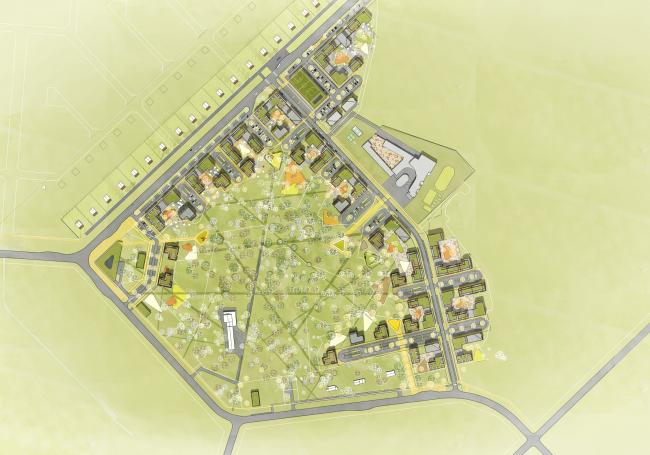 ЖК «Палникс». Схема генерального плана © Архитектурное Бюро ОСА