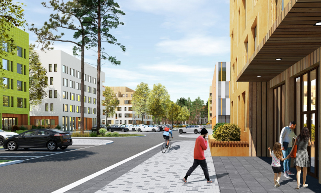 ЖК «Палникс». Вид со стороны улицы © Архитектурное Бюро ОСА
