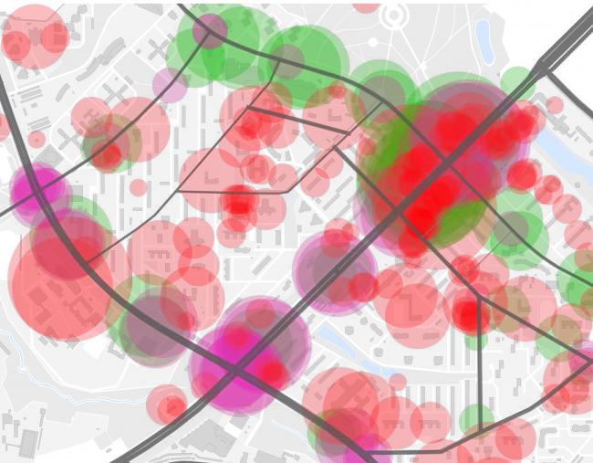 Проект реновации территории «Проспект Вернадского». Городская активность. Наиболее посещаемые места © АБ Остоженка