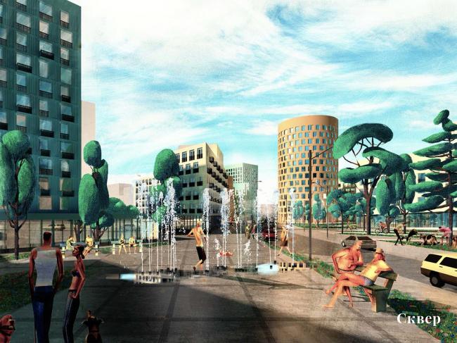 Проект реновации территории «Проспект Вернадского». Сквер © АБ Остоженка