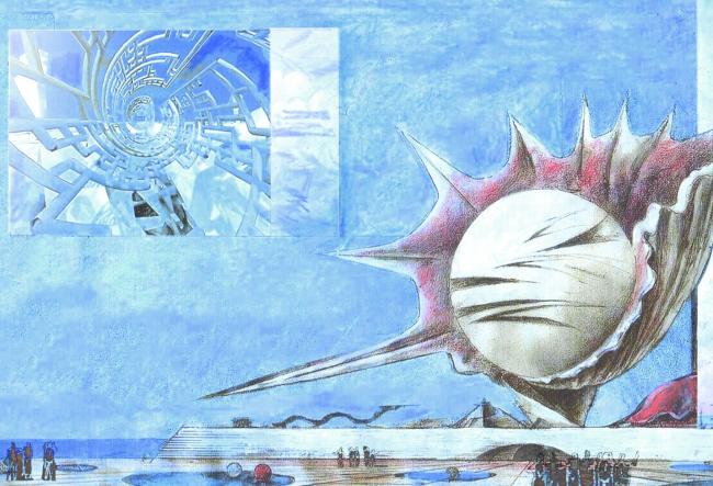 Общий вид. Стадия 1. Концепция Невозможного музея.  Виктор, Максим и Филипп Орловские © ПТМ Орловского В.Ф.