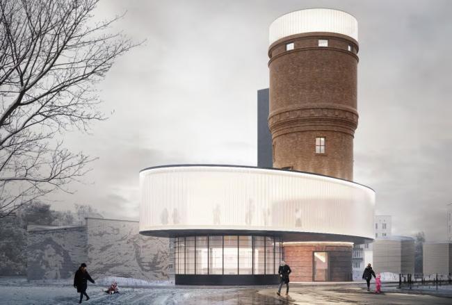 Концепция редевелопмента водонапорной башни в Щербинке © IND Architects