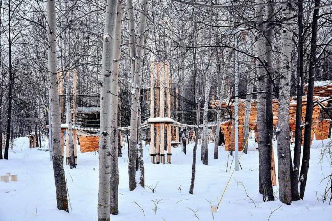 Детская площадка «Сказочный лес», Горкинско-Ометьевский лес