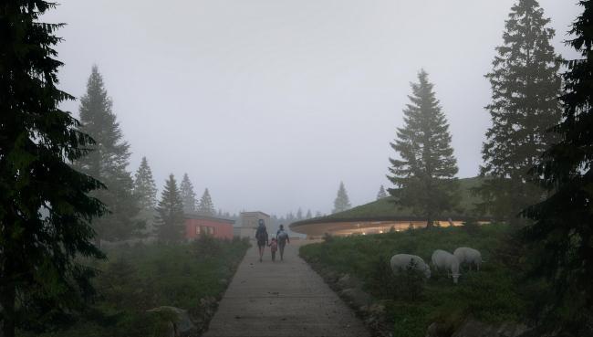 Планетарий и посетительский центр Солнечной обсерватории в Харестуа © Snøhetta/Plompmozes