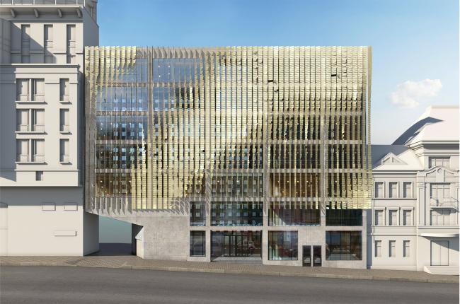 Административно-деловое здание в Мясницком проезде. Вариант 2 © АБ Остоженка
