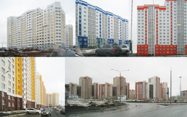 Typical examples of Orenburg′s modern housing construction. Photo courtesy by Sergey Kisselev and Partners