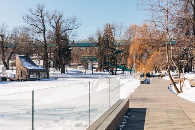Благоустройство Малого Голицинского пруда в парке Горького © Архитектурное бюро «Народный архитектор»
