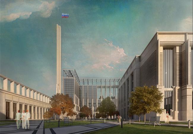 Парламентский центр, конкурсный проект, 2015. Вариант 1 © ОАО Моспроект & А-ГА