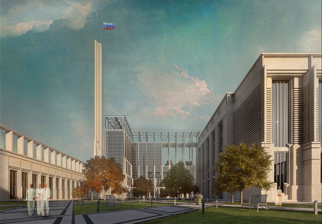 The Parliamentary Center, a competition project, 2015. Version 1 © A-GA