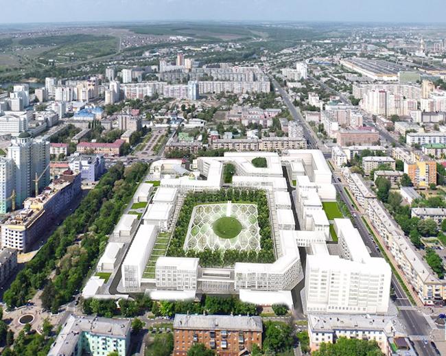 Конкурсное предложение застройки жилого квартала в г. Белгород © LAPLAB & AM ПРОЕКТУС