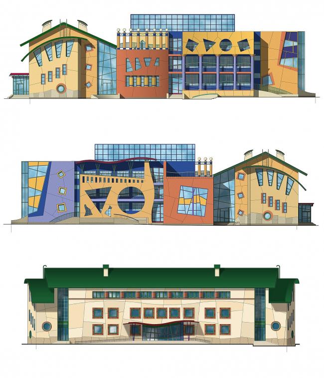 Реабилитационный центр для детей, страдающих ранним аутизмом © Архитектурно-дизайнерская мастерская А. А. Чернихова
