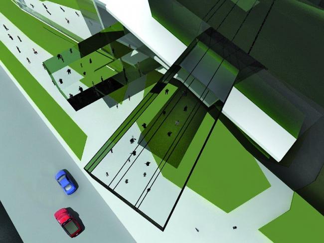 Торговый центр на улице Краснопрудная © Архитектурно-дизайнерская мастерская А. А. Чернихова