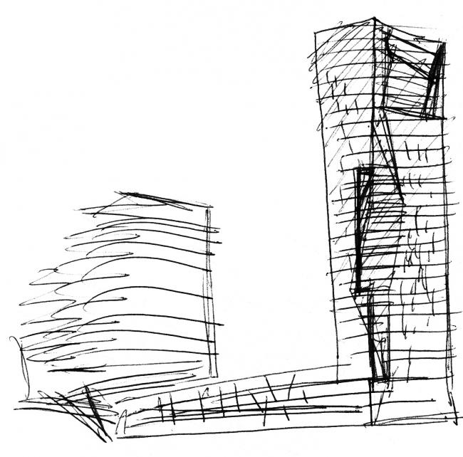 Дом на Мосфильмовской. Рисунок Сергея Скуратова