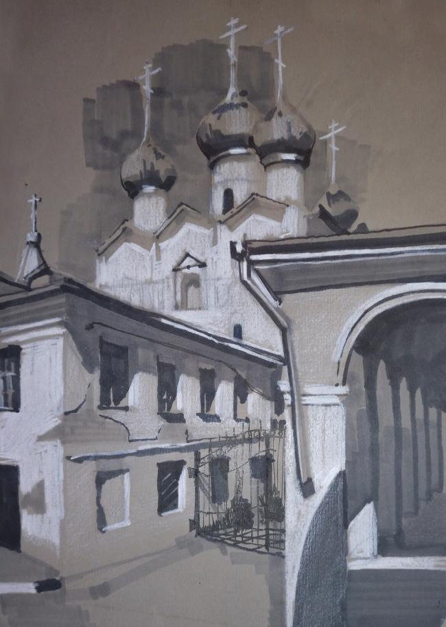 Работа студента Павла Мурадова © МАРХИ