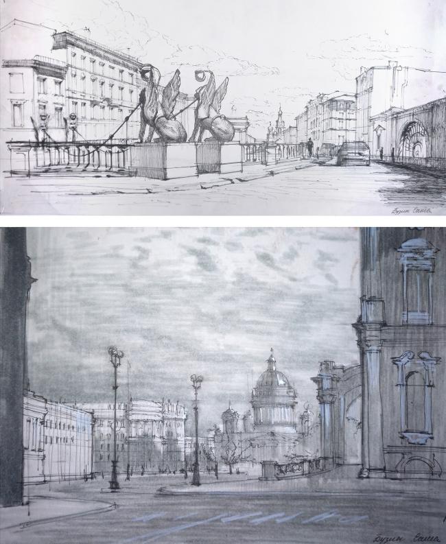 Работа студента Александра Бузина © МАРХИ