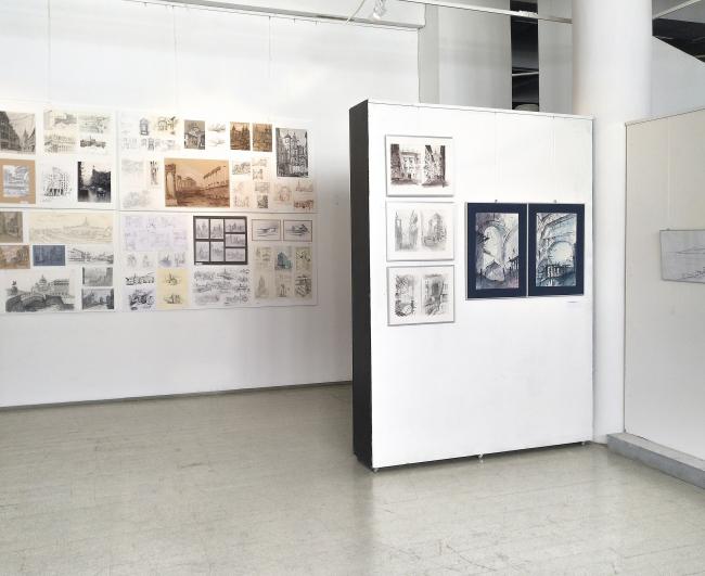Выставка «Архитектурные зарисовки» © МАРХИ