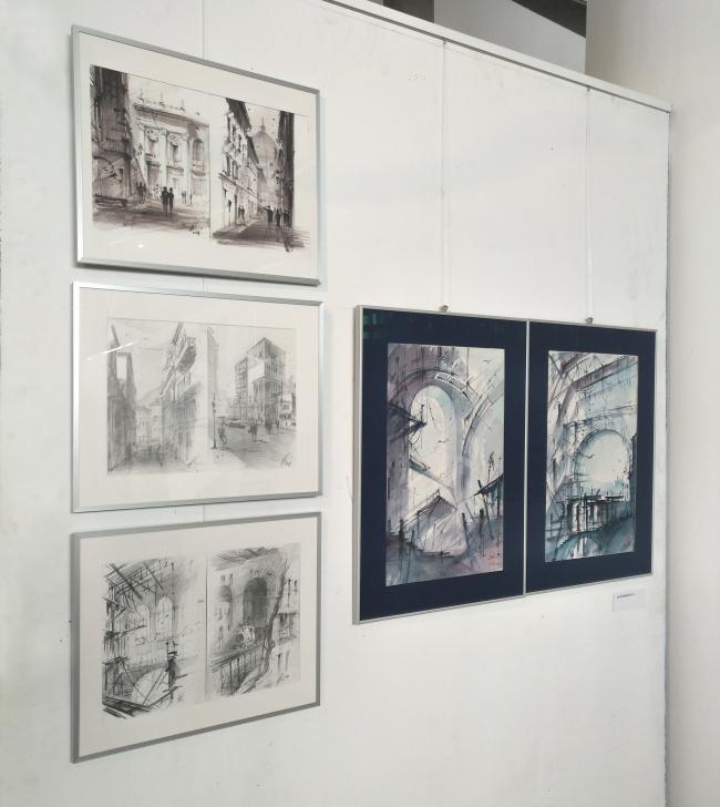Выставка «Архитектурные зарисовки». Работы преподавателя В.А. Колгашкина © МАРХИ