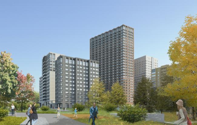 МФК с жилыми помещениями для временного проживания на ул. Ивана Франко © АМ Сергей Киселев и Партнеры