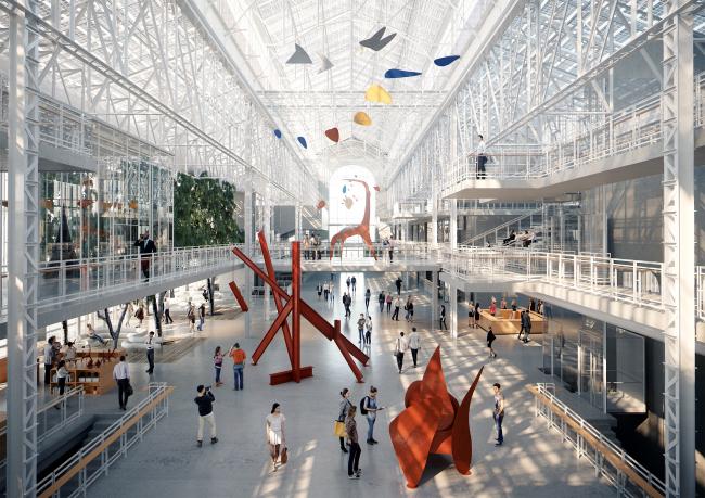 Центр современной культуры фонда V-A-C в бывшей электростанции ГЭС-2 © Renzo Piano Building Workshop (RPBW) & Проектное бюро АПЕКС